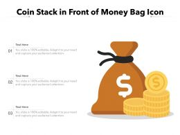 Coin Stack In Front Of Money Bag Icon