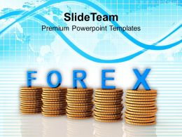 Coins Graph With The Word Forex Powerpoint Templates PPT Themes And Graphics 0113