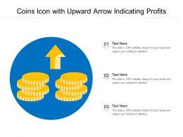 Coins Icon With Upward Arrow Indicating Profits