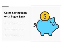 Coins Saving Icon With Piggy Bank