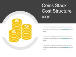 Coins Stack Cost Structure Icon