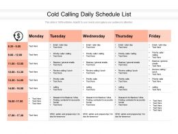 Cold Calling Daily Schedule List