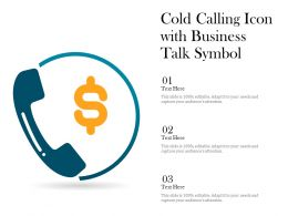Cold Calling Icon With Business Talk Symbol