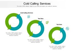 Cold Calling Services Ppt Powerpoint Presentation Layouts Outline Cpb