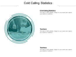 Cold Calling Statistics Ppt Powerpoint Presentation Gallery Deck Cpb