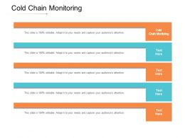 Cold Chain Monitoring Ppt Powerpoint Presentation Ideas Brochure Cpb
