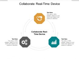Collaborate Real Time Device Ppt Powerpoint Presentation Summary Skills Cpb