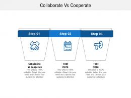 Collaborate Vs Cooperate Ppt Powerpoint Presentation Model Information Cpb