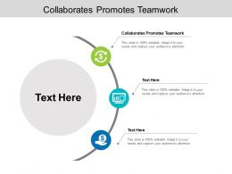 Collaborates Promotes Teamwork Ppt Powerpoint Presentation Gallery Cpb