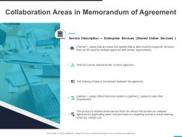 Collaboration Areas In Memorandum Of Agreement Ppt Powerpoint Presentation Summary