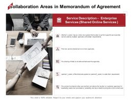 Collaboration Areas In Memorandum Of Agreement Service Ppt Powerpoint Presentation Show