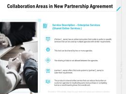 Collaboration Areas In New Partnership Agreement Ppt Powerpoint Layouts