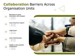Collaboration Barriers Across Organisation Units