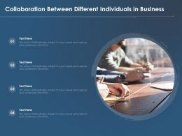 Collaboration Between Different Individuals In Business