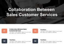 Collaboration Between Sales Customer Services Ppt Powerpoint Presentation Infographics Example Introduction Cpb