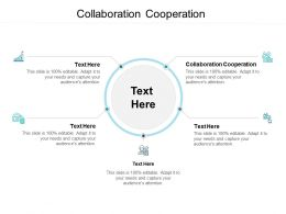 Collaboration Cooperation Ppt Powerpoint Presentation Styles Aids Cpb