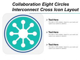 Collaboration Eight Circles Interconnect Cross Icon Layout