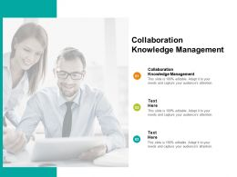 Collaboration Knowledge Management Ppt Powerpoint Presentation Professional Format Ideas Cpb