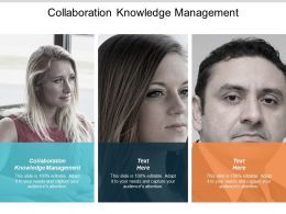 Collaboration Knowledge Management Ppt Powerpoint Presentation Slides Graphics Cpb