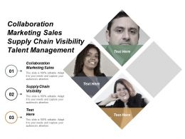 Collaboration Marketing Sales Supply Chain Visibility Talent Management Cpb