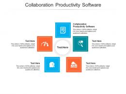 Collaboration Productivity Software Ppt Powerpoint Presentation Outline Visuals Cpb