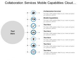 Collaboration Services Mobile Capabilities Cloud Deployment Social Service