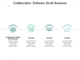 Collaboration Software Small Business Ppt Powerpoint Summary Format Cpb