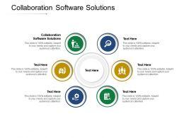 Collaboration Software Solutions Ppt Powerpoint Presentation Portfolio Designs Cpb