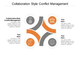 Collaboration Style Conflict Management Ppt Powerpoint Presentation Show Cpb