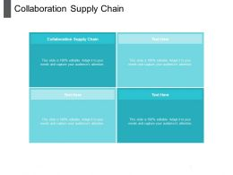 Collaboration Supply Chain Ppt Powerpoint Presentation Show Background Image Cpb