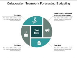 Collaboration Teamwork Forecasting Budgeting Ppt Powerpoint Presentationmodel Brochure Cpb