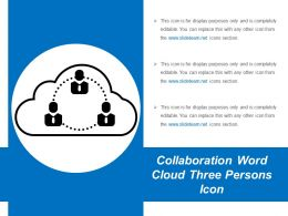 Collaboration Word Cloud Three Persons Icon