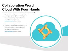 Collaboration Word Cloud With Four Hands