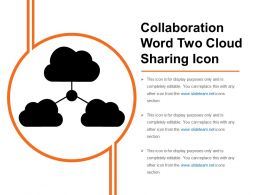 Collaboration Word Two Cloud Sharing Icon