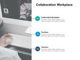 Collaboration Workplace Ppt Powerpoint Presentation Inspiration Ideas Cpb