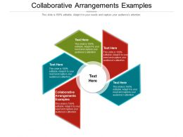 Collaborative Arrangements Examples Ppt Powerpoint Presentation Infographic Template Styles Cpb