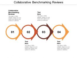 Collaborative Benchmarking Reviews Ppt Powerpoint Presentation Model Vector Cpb