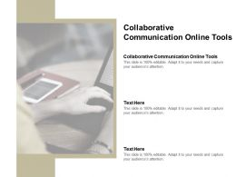 Collaborative Communication Online Tools Ppt Powerpoint Presentation File Brochure Cpb