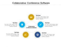 Collaborative Conference Software Ppt Powerpoint Presentation Professional Outfit Cpb
