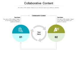Collaborative Content Ppt Powerpoint Presentation Summary Diagrams Cpb