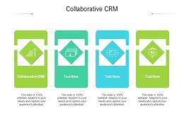 Collaborative CRM Ppt Powerpoint Presentation Icon Slideshow Cpb