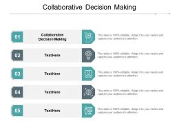 Collaborative Decision Making Ppt Powerpoint Presentation Ideas Guide Cpb