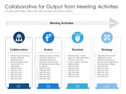 Collaborative For Output From Meeting Activities