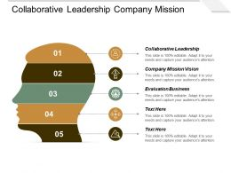 Collaborative Leadership Company Mission Vision Evaluation Business Strategic Management Cpb