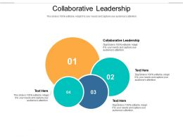 Collaborative Leadership Ppt Powerpoint Presentation File Gallery Cpb
