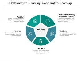 Collaborative Learning Cooperative Learning Ppt Powerpoint Presentation Show Master Cpb