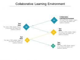 Collaborative Learning Environment Ppt Powerpoint Presentation Model Example File Cpb
