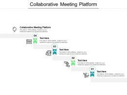 Collaborative Meeting Platform Ppt Powerpoint Presentation Ideas Backgrounds Cpb