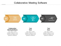 Collaborative Meeting Software Ppt Powerpoint Presentation Inspiration Outline Cpb