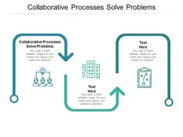 Collaborative Processes Solve Problems Ppt Powerpoint Presentation Pictures Images Cpb